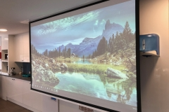 Retractable projection screen - Office installation